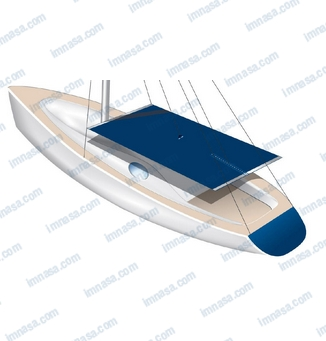HOOD FOR SAILBOAT 255x240 WHITE