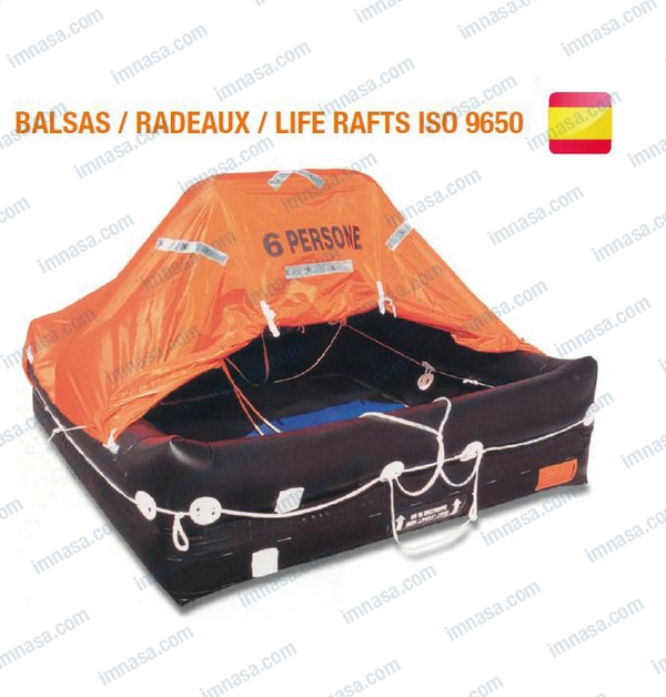 LIFERAFT 4 PERSON VALISE ISO9650 SPAIN   LIFE RAFTS ISO