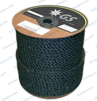 MOORING ROPE BLACK  6mm HIGH STRENGTH