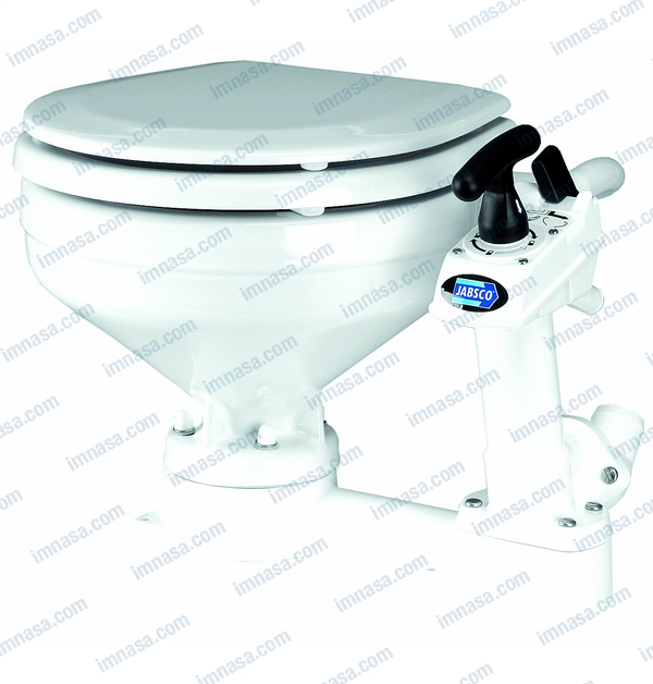 Jabsco 29098-1000 Toilet Seat Hinge Set for Compact Wood Seat Assembly