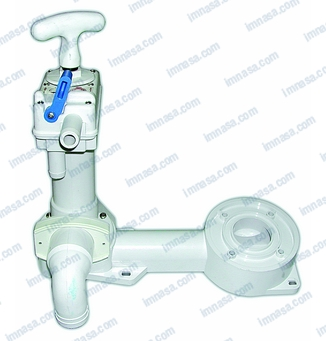Pump base for manual wc marine toilets deck cabin for Bomba inodoro
